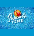 summer time with beach ball on water vector image