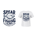 t-shirt print with flounder fish fishing club vector image