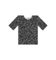 t-shirt sign black icon from vector image vector image
