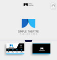 theater simple logo template and business card vector image
