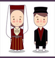 traditional national clothes of russian vector image vector image