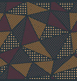 triangle pattern with cloth effect vector image vector image