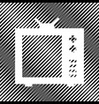 tv sign icon hole in moire vector image