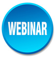 webinar blue round flat isolated push button vector image vector image