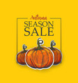 yellow poster for autumn sale vector image vector image