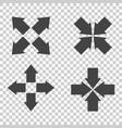 arrow symbol icons flat vector image