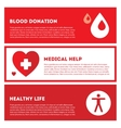 Medical donation Banner set in red colors vector image