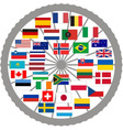 Flags of countries of the Tour de France 2013 vector image