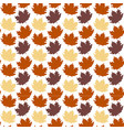 abstract autumn maple leaves white background vect vector image