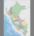 administrative division republic peru vector image