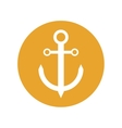 anchor nautical travel maritime yellow circle vector image