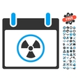 Atomic Calendar Day Icon With Bonus vector image vector image