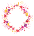 background with red and yellow flowers vector image vector image