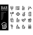 Bar alcohol icons Drink beverage set vector image