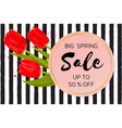 big spring sale background with beautiful flowers vector image vector image