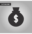 black and white style money bag vector image vector image