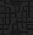 Black textured plastic overlapping futuristic vector image vector image
