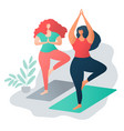 body positive concept multinational friendship vector image vector image