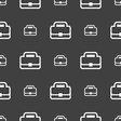 Briefcase icon sign Seamless pattern on a gray vector image vector image