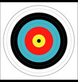 bulls eye vector image vector image
