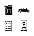 car service simple related icons vector image vector image