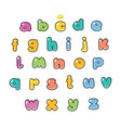 cartoon alphabet candy typeface vector image