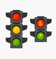 cartoon traffic light different types set vector image vector image