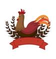 chicken animal farm icon vector image vector image