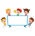 children banner vector image