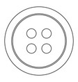clothing button the black color icon vector image