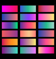 collection of soft color background gradient vector image vector image