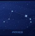 constellation aries astrological sign vector image vector image