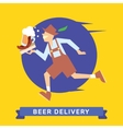 Delivery of fast food vector image vector image