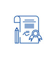 diploma line icon concept diploma flat vector image