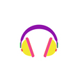 Earphones Icon vector image