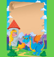 fairy tale theme parchment 2 vector image vector image
