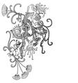 fantasy doodle vector image vector image