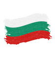 flag of bulgaria grunge abstract brush stroke vector image vector image