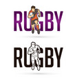 font rugwith rugplayer action cartoon sport vector image vector image