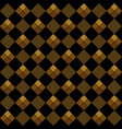 gold argyle seamless pattern vector image vector image