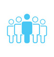 group of five people or group of users standing vector image vector image