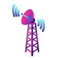 gsm smart tower icon isometric style vector image