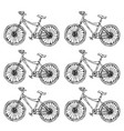 hand drawn of city bicycle in vector image vector image