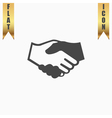 handshake background for business and finance vector image vector image