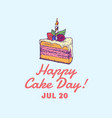 happy cake day confectionary abstract sign vector image