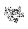 happy valentines day vintage card vector image