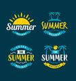 hello summer typography design summer logo design vector image