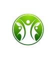 human character logo signhealth care logo nature vector image vector image