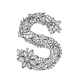 letter s coloring book for adults vector image vector image