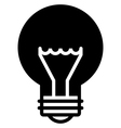 Light bulb black icon vector image